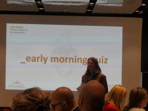 Isabella Kremnitzer-Nowak moderated the team quiz