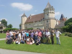 Gruppenfoto Team Wien vor Schloss Rosenburg